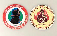 (PRL) 1991 VIGILI DEL FUOCO 50 ANNI LOTTO ADESIVI STICKERS  AUTOCOLLANT ADESIVO