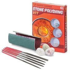 STONE POLISHING KIT - EDUCATIONAL SCIENCE ROCK CLEANER GEM GEMSTONES
