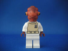 Lego Figurine Minifig Star Wars - Amiral Ackbar Neuf New / Set 7754