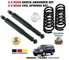 FOR MITSUBISHI SHOGUN PAJERO 2000-2007 2x REAR SHOCK ABSORBERS + 2x COIL SPRINGS