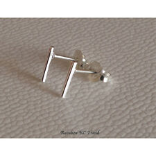 925 Sterling Silver Bar Girl Women Stud Earrings Jewellery Gift Party