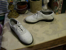 Reebok Leather Soft Spikes Golf Shoes SZ 6-1/2N White ..Preowned