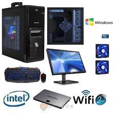 PC DESKTOP COMPLETO INTEL QUAD CORE WIFI WINDOWS 7 HOME PROVA MONITOR 22 TASTIER