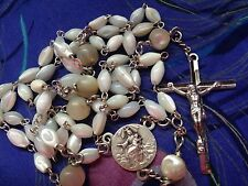 Upcycled Handcrafted Vintage  Rosary With Signed 1920's Centre And Fine Crucifix