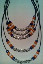 BRONCOS SUPER BOWL PARTY NECKLACES AND BRACELETS ** EVERY FAN SHOULD HAVE ONE!!