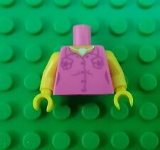 *NEW* Lego Pink Shirt w Necklace Torso Yellow Arms Body Minifigures Figure x 1