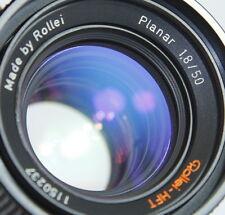 ROLLEI HFT PLANAR 50/1.8 50mm f1.8 QBM FOR ROLLEIFLEX SL35 35E 35M VOIGTLANDER