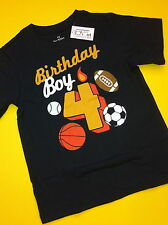 NEW*** 4th Birthday 4 Years Baby Boys Graphic Shirt 4T Gift Blue Nice SS Sports