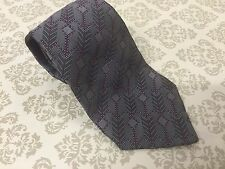 CHRISTIAN DIOR MONSIEUR Vintage Silk Tie - Grey Purple Design
