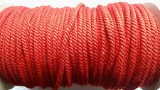 Cordoncino ritorto per uniformi rosso 3mm 5 metri nuovo (#106c) (M = 2,10) -