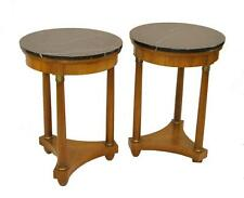 Empire Style Round Marble Top Tables by Baker Furniture