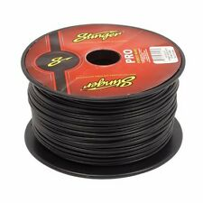 50 Feet Stinger Pro Series 18 Gauge Black Remote Turn On Primary Wire SPW318BK