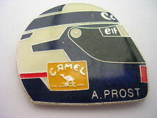 PIN'S  VOITURES  F1 / CASQUE ALAIN PROST  /CAMEL / CANON /  ELF  /   SUPERBE