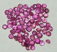 2ct LOT 71pcs Thai Ruby Rounds 1.5mm - 2mm SPECIAL