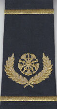 2  Fire Chief Epaulet Shoulder Boards 5 Bugles with Wreath Gold on Midnight Navy