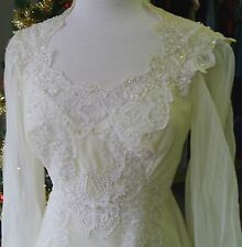 Alfred Angelo Vintage Candlelight Long-Sleeve Wedding Gown