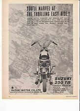 Suzuki 250TB  classic period motorcycle advert September 1961