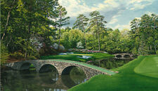 """12th Hole, ""Golden Bell,"" Augusta National Golf Club"" L. Hartough 24"" Canvas"