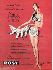 PUBLICITE ADVERTISING 016  1957  ROSY  sous vetements NITOUCHE Elize Fenn