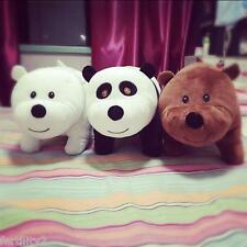 3pcs cute Stuff Panda Grizzly Ice bear Plush Baby soft Toys Dolls Gifts 10inch