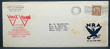US Envelope VEGEX NRA Vignette auf Amerika Brief Sioux City (Lot 9894