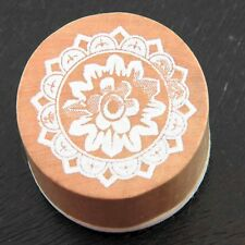 Vintage-style Round Mandala Lace Effect Rubber Stamp