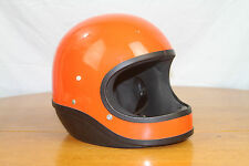 VINTAGE Orange MOTORCYCLE HELMET BUCO ARAI SHOEI