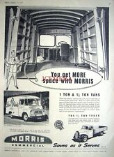 Vintage 1956 MORRIS '1 & 1.5 Ton' Commercial Vans Advert: Rare Original Print Ad