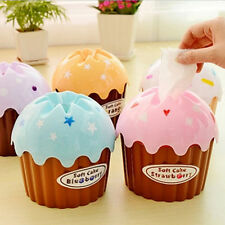Cute Cake Tissue Box Napkin Cover Paper Holder Household Trendy Cake Decor Tool