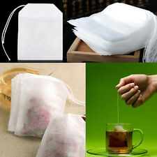100Pcs/Set White Non-Woven Empty Draw String Disposable Tea Bag Holder 5.5x7cm