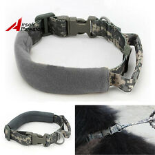 Tactical Military Hunting Large Dog Collars Nylon Dog Training Accessories ACU