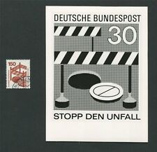 BUND FOTO-ESSAY 703 DAUERSERIE UNFALL 1971 PHOTO-ESSAY PROOF RARE!! e28