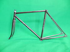 Georama Black Silver Fade NJS Approved Keirin Frame Track Bike Fixed Gear