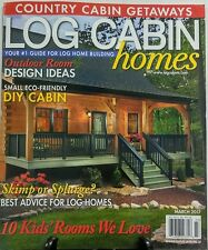 Log Cabin Homes March 2017 Outdoor Room Design Ideas DIY Cabin FREE SHIPPING sb