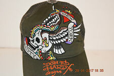 Don Ed Hardy Designs New York City Skull Eagle Wings snap-back hat cap