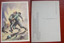 CARTOLINA ATTI EROICI DELLE GUARDIE PUBBLICA SICUREZZA P.S. PAOLEMILIO 1941 #2#