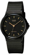 Casio MQ24-1E Men's Analog Watch Black and Gold Indices Resin Classic New
