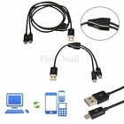USB 2.0 to Micro USB 2.0 M/M 1 to 2 Y Splitter Cable Charger Data Twin Head Dual