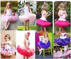 Baby Kids Girls Dancewear Cute Chiffon Tutu Full Pettiskirt Princess Skirt 2-6Y