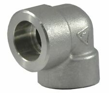 """Stainless Steel Schedule 80, 304, Socket Connect, 1/2"""" Pipe Size, Elbow"""