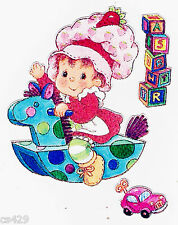 "5"" BABY STRAWBERRY SHORTCAKE  WALL SAFE STICKER BORDER CUT OUT"