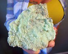 Rare Broken Hill, Australia Brilliant Green Smithsonite Crystal Plate w/Calcite