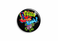 Peace and Love - Rock 1 - Badge 56mm Button Pin