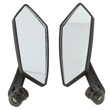 New Universal Motorcycle Modified Rearview Mirrors ABS Lens Black