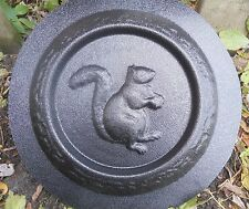 concrete plaster mold squirrel mini birdbath plastic mould