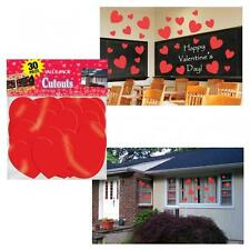 Valentines Day Red Heart Big Pack Cut Out Decorations x 30