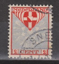 NVPH Netherlands Nederland nr. 199 used CANCEL SNEEK Zomerzegel 1926 Pays Bas
