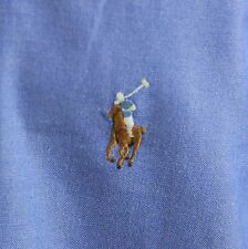 Ralph Lauren Yarmouth Blue Multi Color Pony Pinpoint Oxford Shirt Mens L 16.5