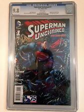 SUPERMAN UNCHAINED #1 CGC 9.8 JIM LEE DC NEW 52
