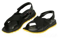 NEW PRADA BLACK LEATHER ADJUSTABLE SLIP-ON SANDALS SHOES 8/US 9